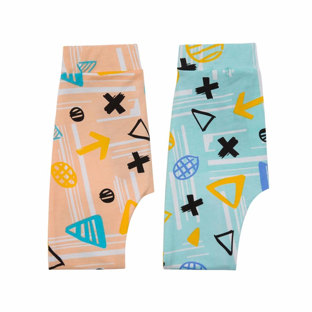 Pink & Blue Neutral Cotton Pants (2pc-set)