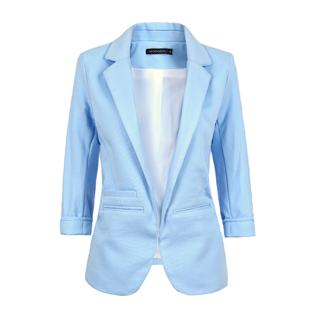 Light Blue Open Blazer