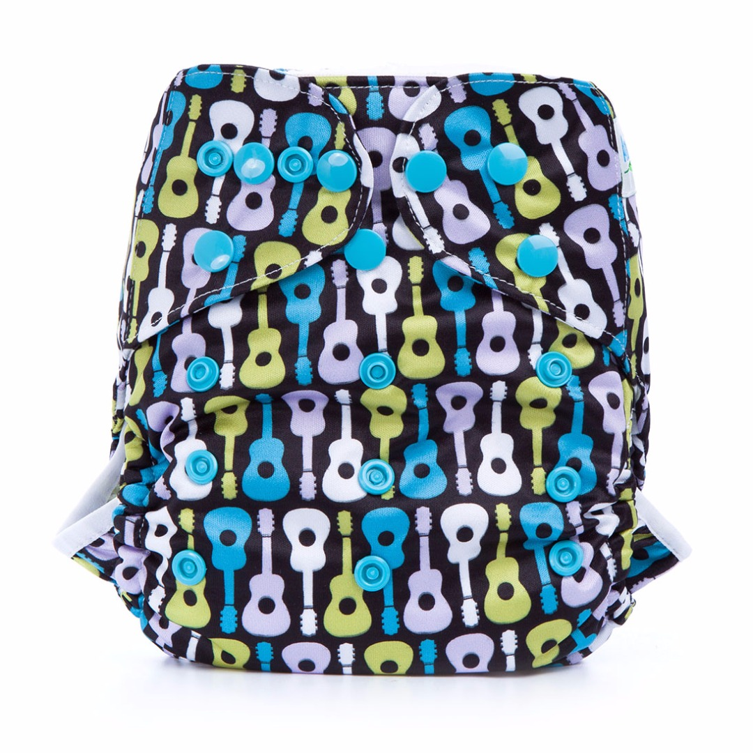 Baby's Favorite Waterproof Guitar Player Diaper Cover for Prefolds
