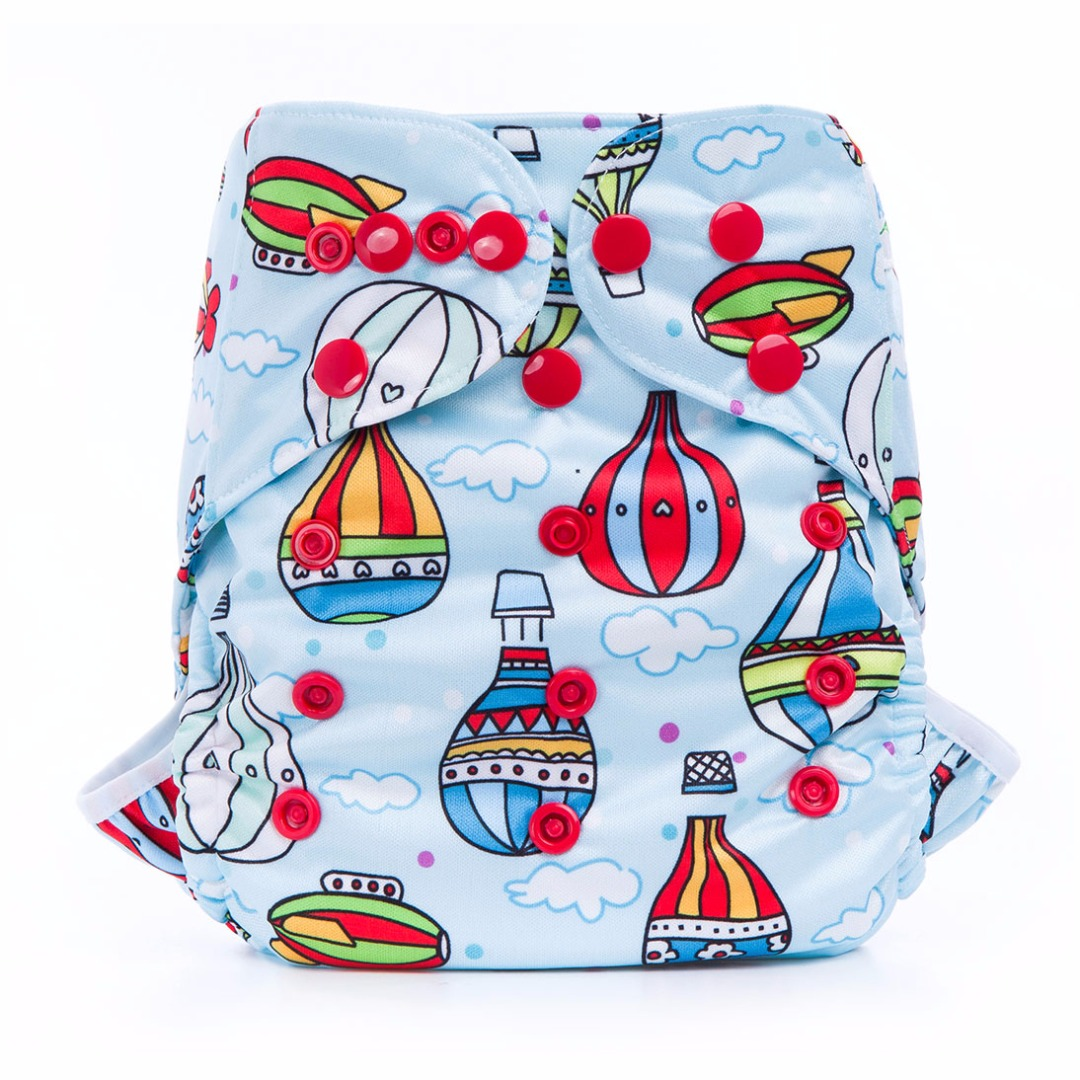 Baby's Favorite Waterproof Travel Around the World Diaper Cover for Prefolds
