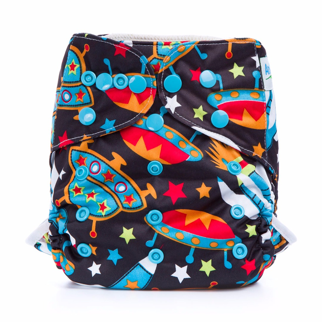 Baby's Favorite Waterproof Explore the Universe Diaper Cover for Prefolds