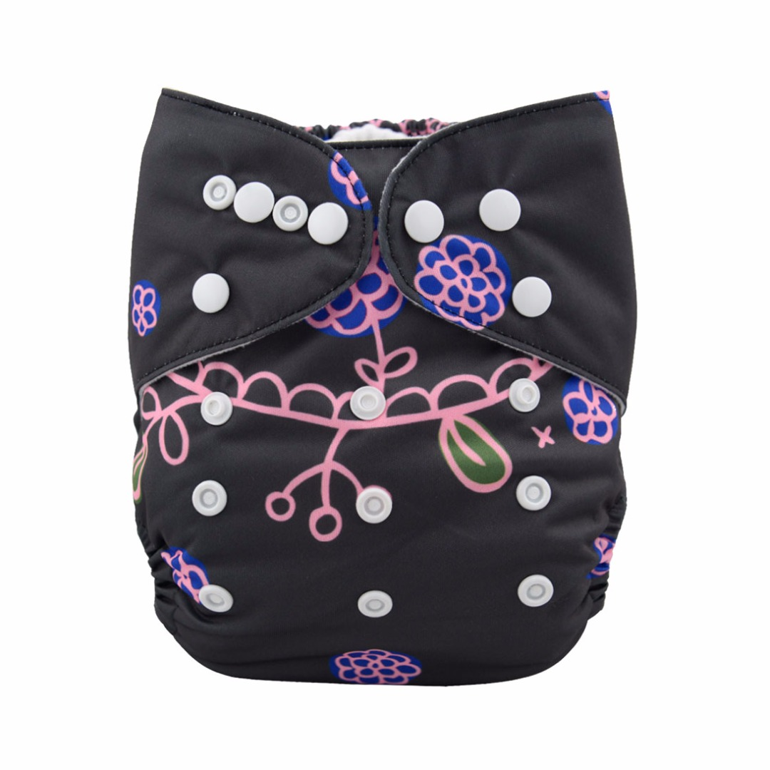 Baby Reusable & Washable & Adjustable Beautiful Mermaid Pocket Diaper With Insert
