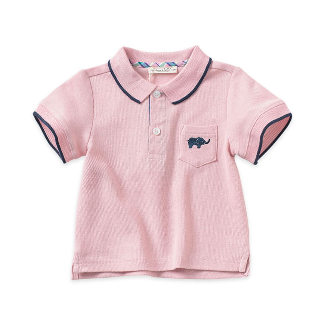 Baby/Boy's Cotton Spring Polo/Top in Pink