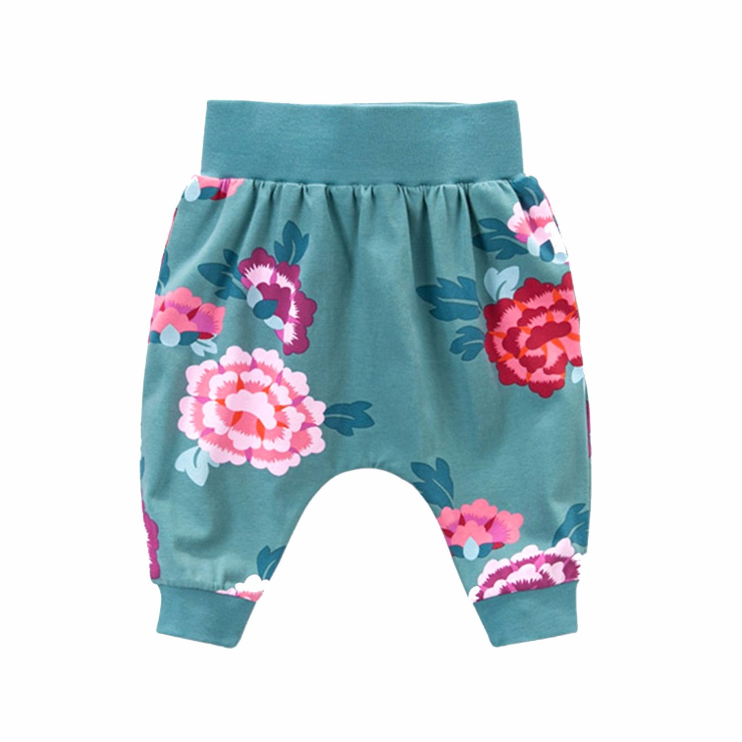 Baby/Girl's Cotton Bold Flower Pants/Bottom 33442-en-USD-9M