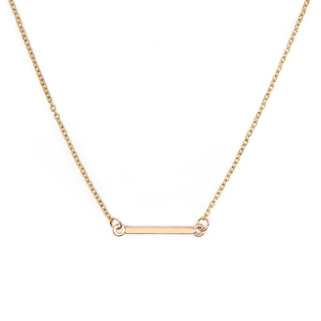 Simple Bar Necklace in Gold for Women 35745-en-USD