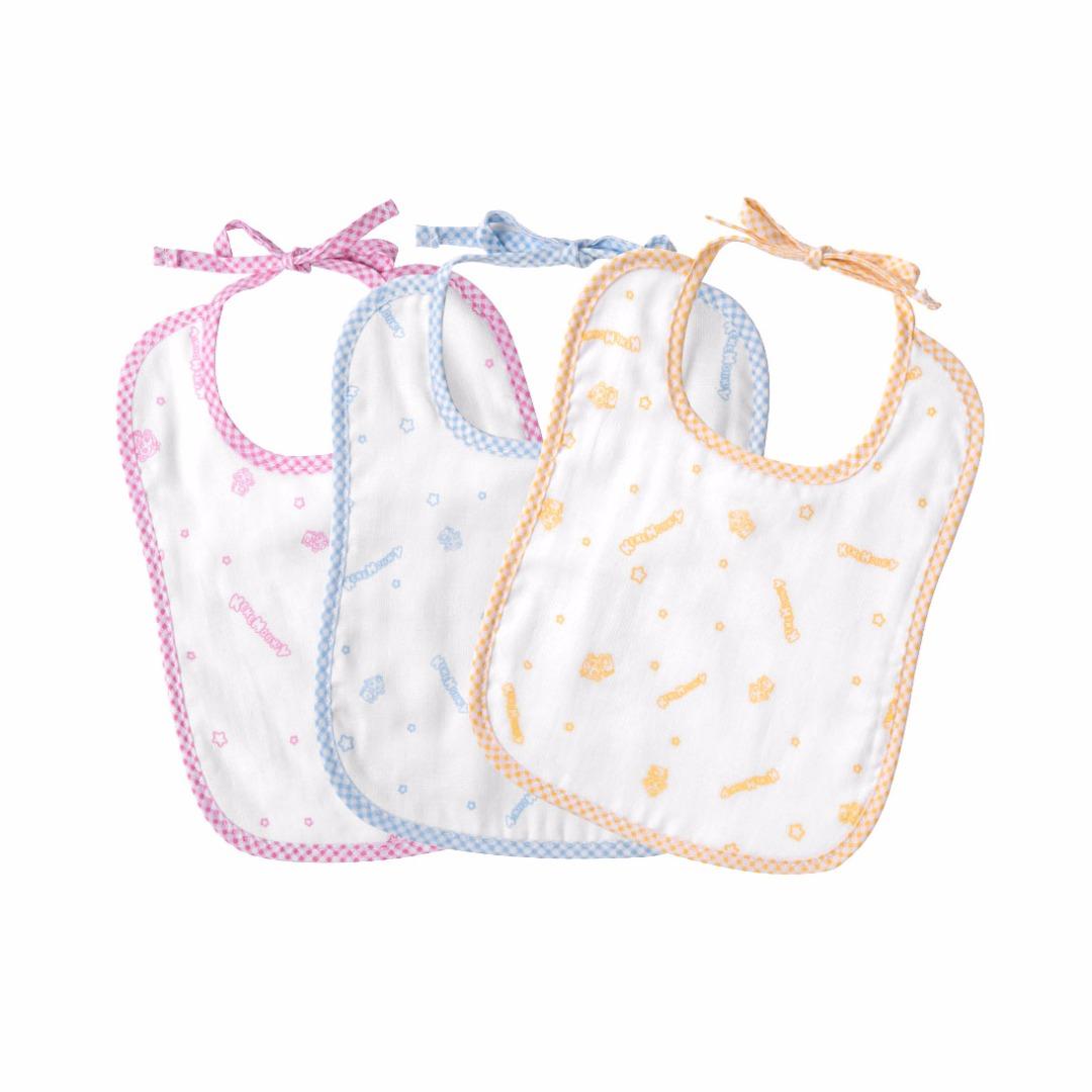Baby Cotton Gauze Cuddly Bibs (3pc-set)