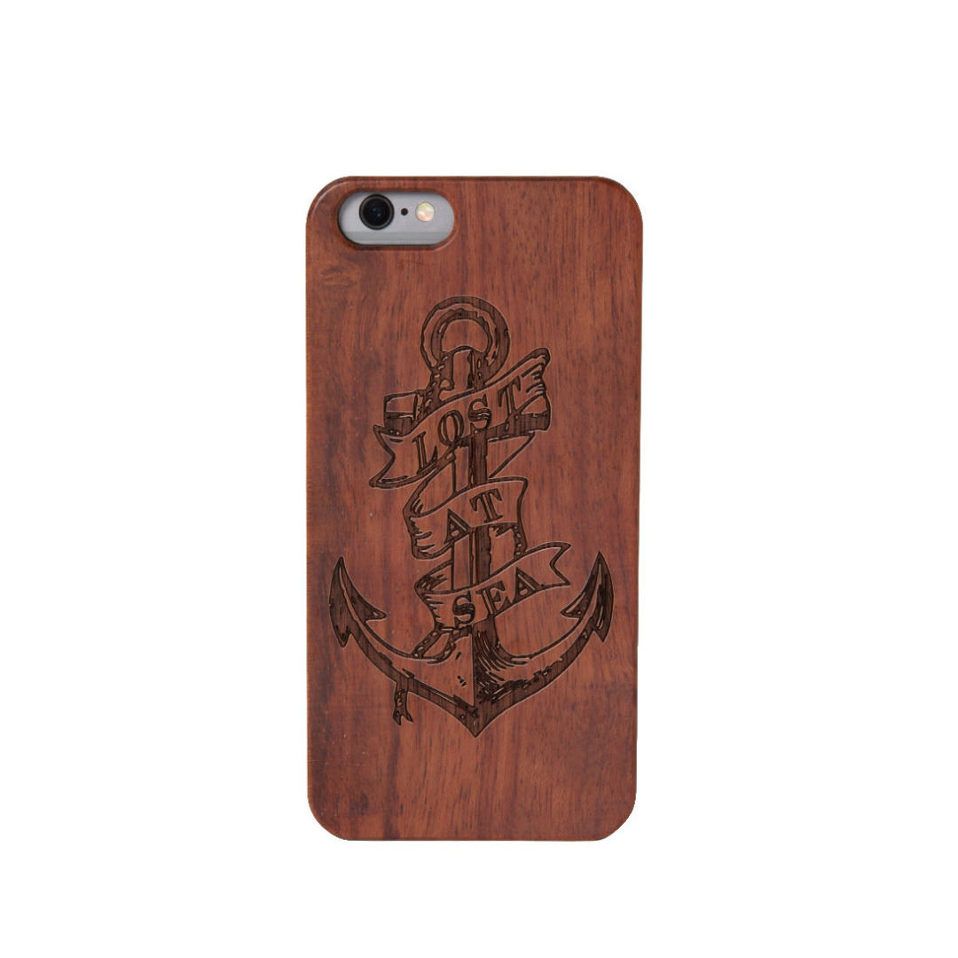 Lost At Sea Wooden iPhone Case