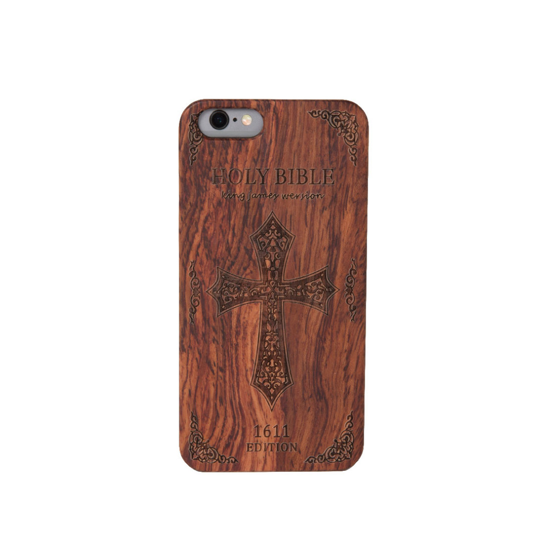 Holy Bible Wooden iPhone Case
