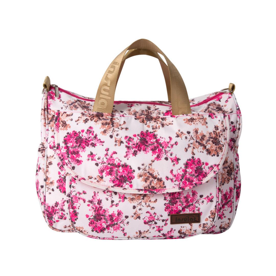 Red Blooming Azalea Stroller Diaper Bag