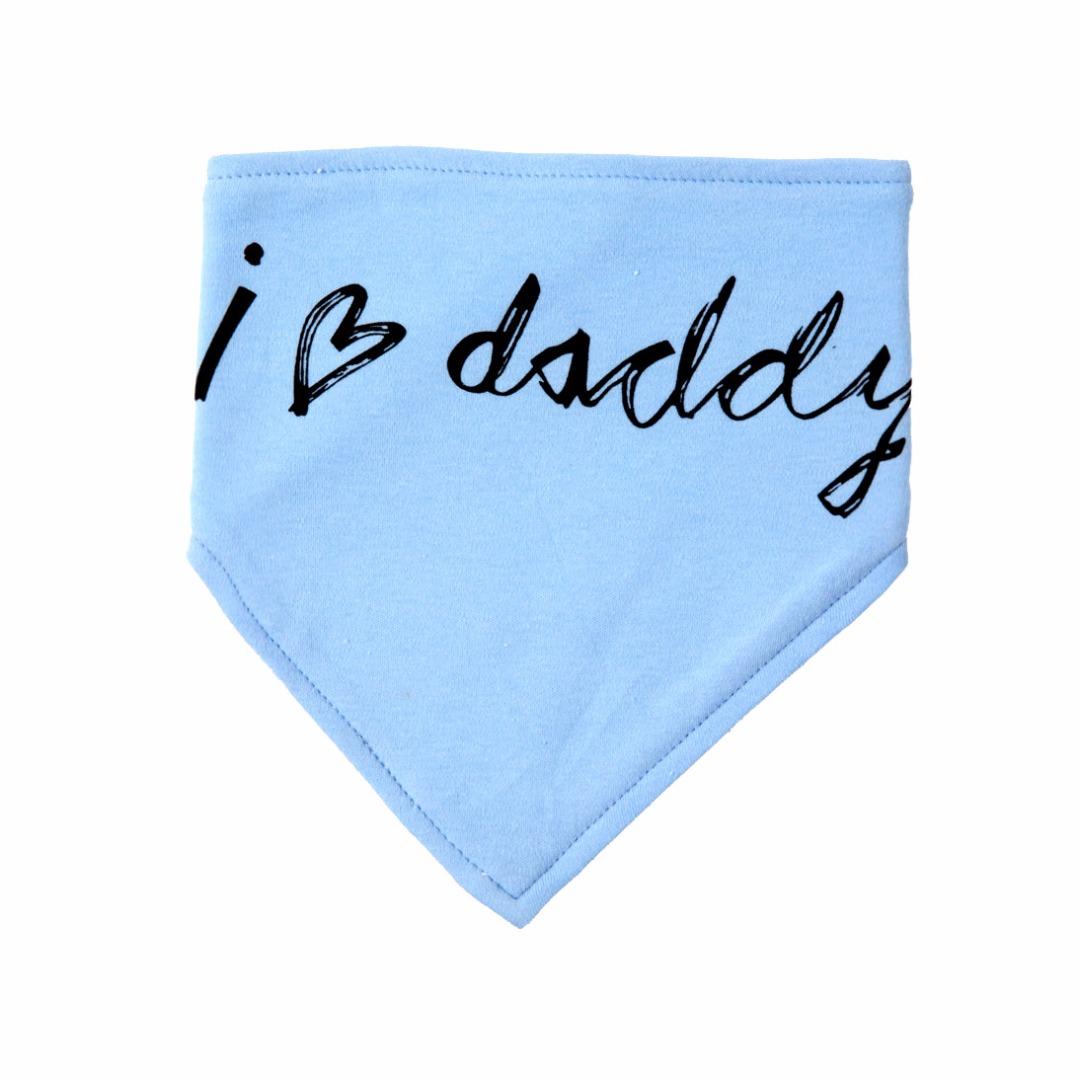Baby Cotton Waterproof Bib in Blue