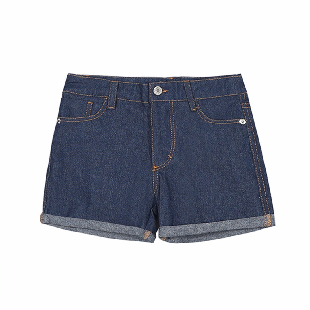 Girl's Dark Blue Denim Shorts/Bottom