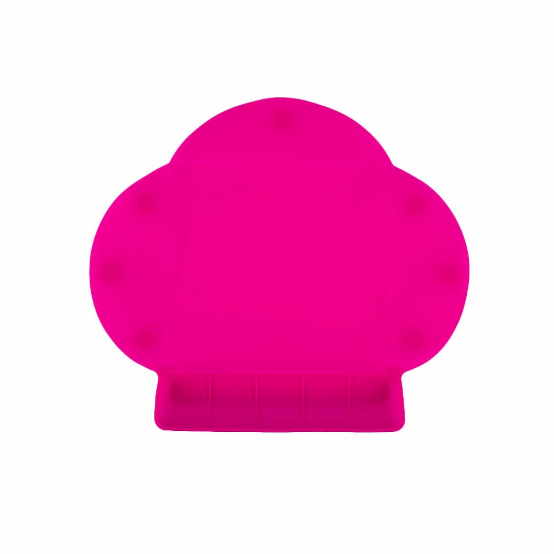 Rose-red Portable Waterproof Silicone Tableware Placemat