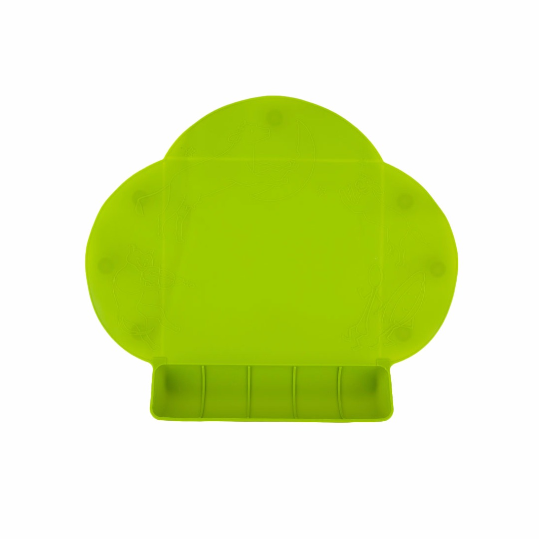 Green Portable Waterproof Silicone Tableware Placemat