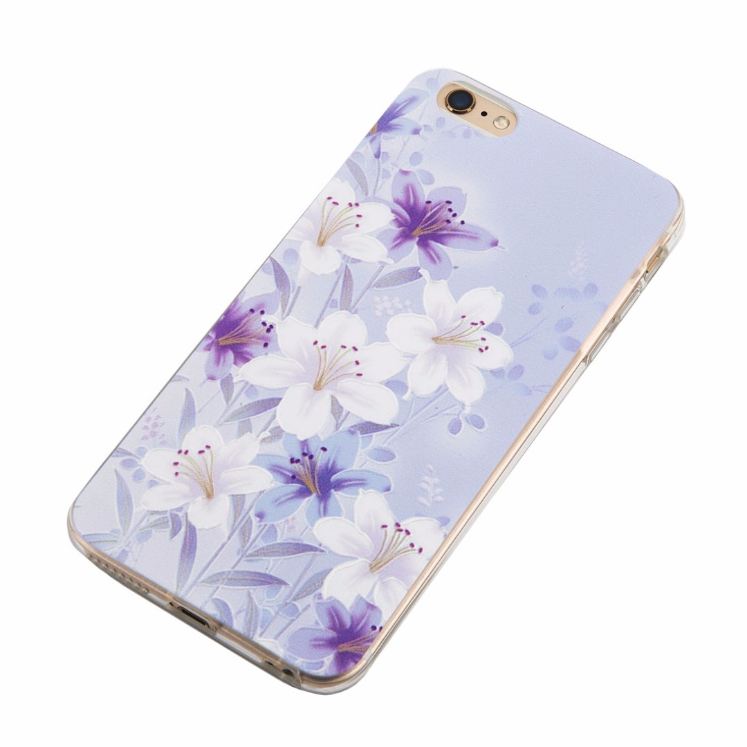 Purple Lily Soft Case for iPhone 6/6s and iPhone 6 plus/6s plus