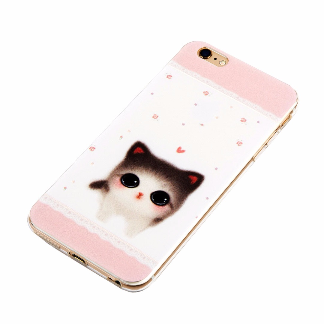 Cute Kitten Soft Case for iPhone 6/6s and iPhone 6 plus/6s plus