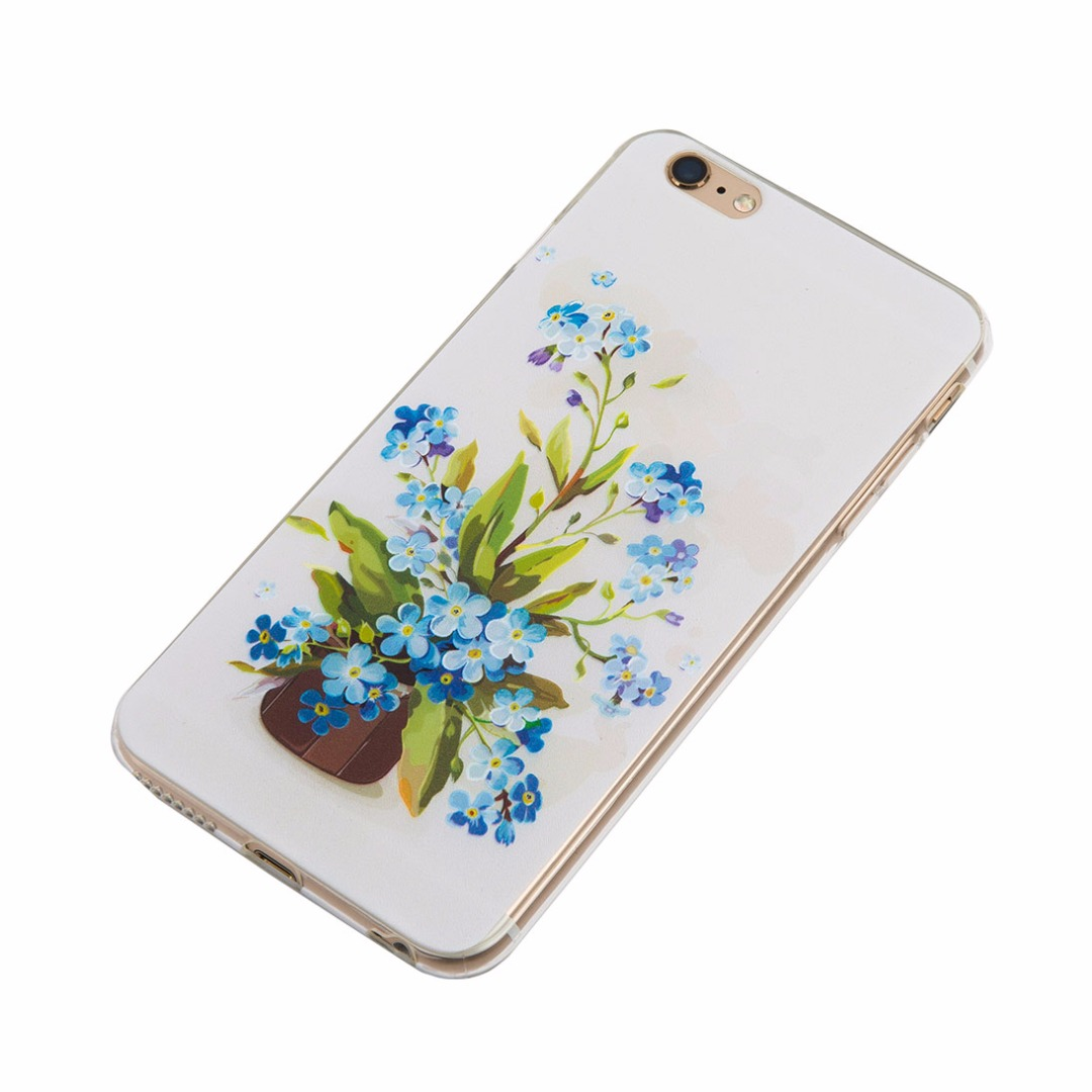 3D Flower Paint Soft Case for iPhone 6/6s and iPhone 6 plus/6s plus