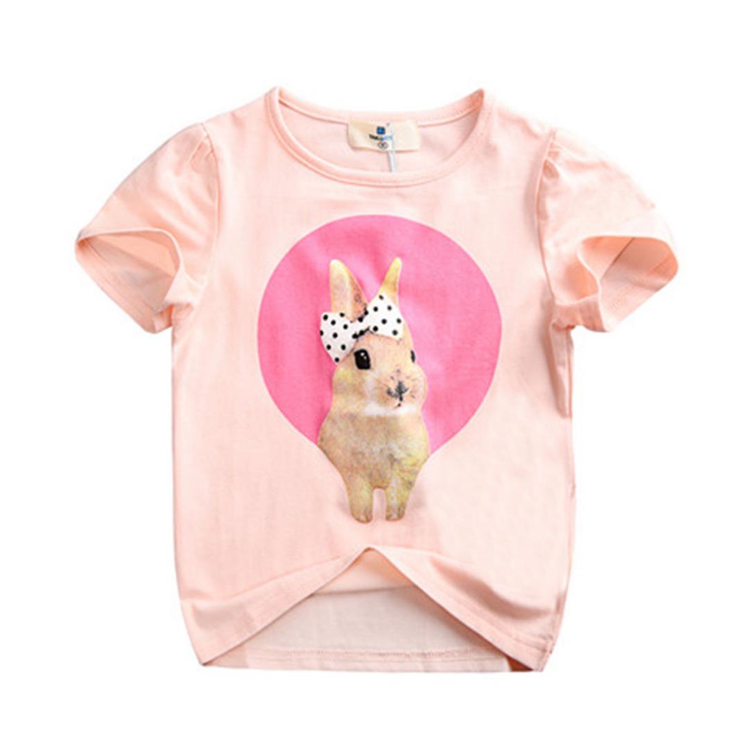 Girl's Cotton Top Sweet Bunny Tee