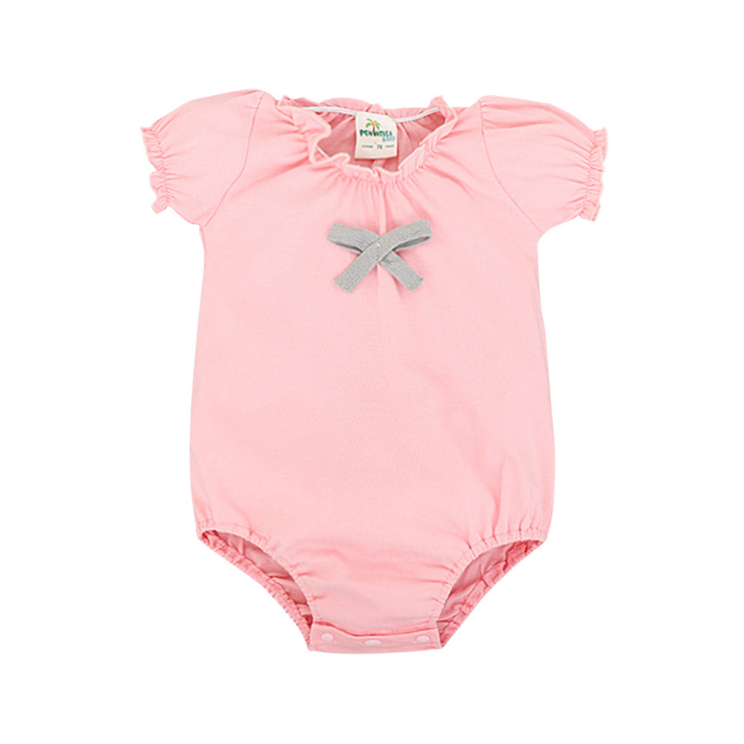 Baby Girl's Sweet Ruffle Bodysuit in Pink