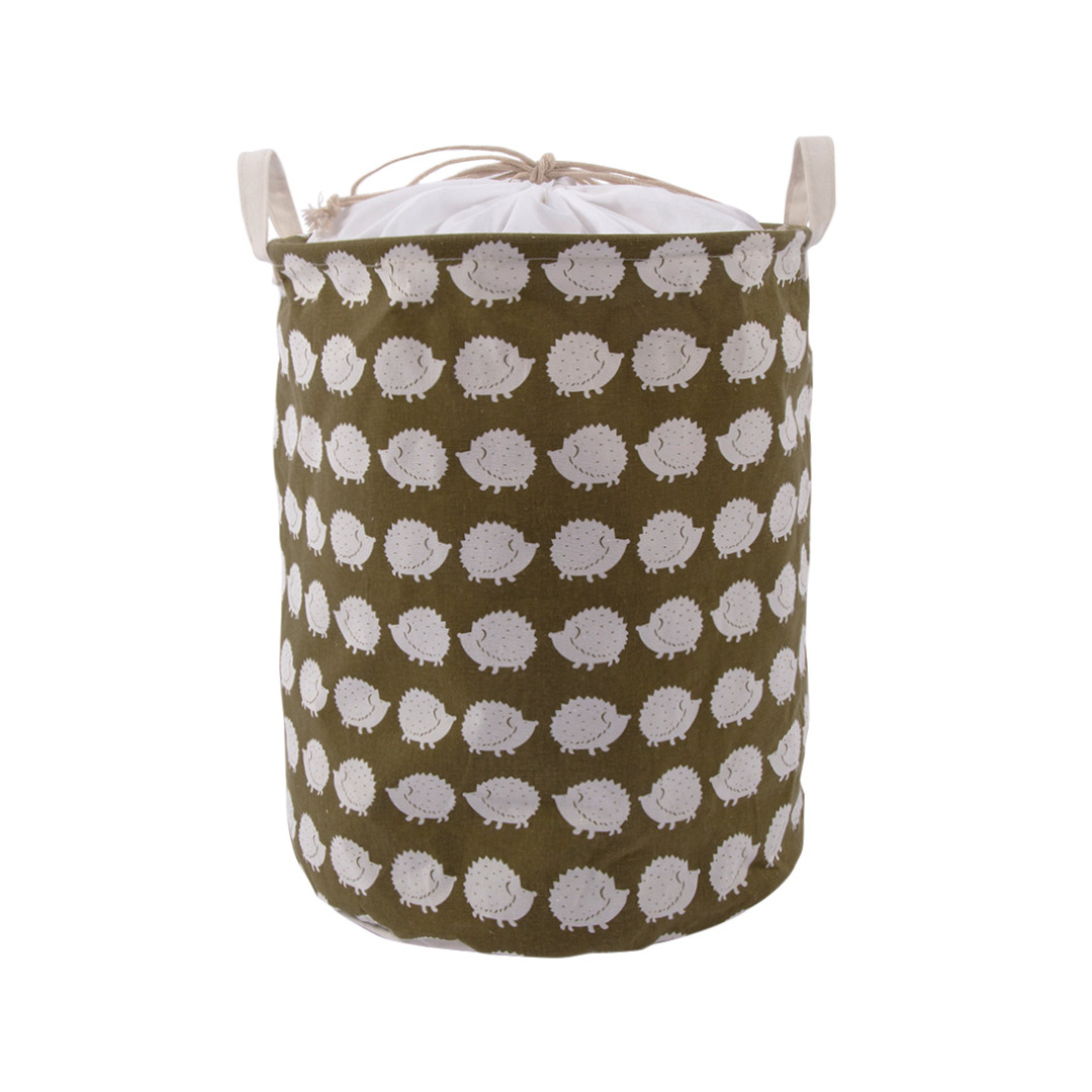 Cute Hedgehog Pattern Collapsible Storage Bag Laundry Hamper