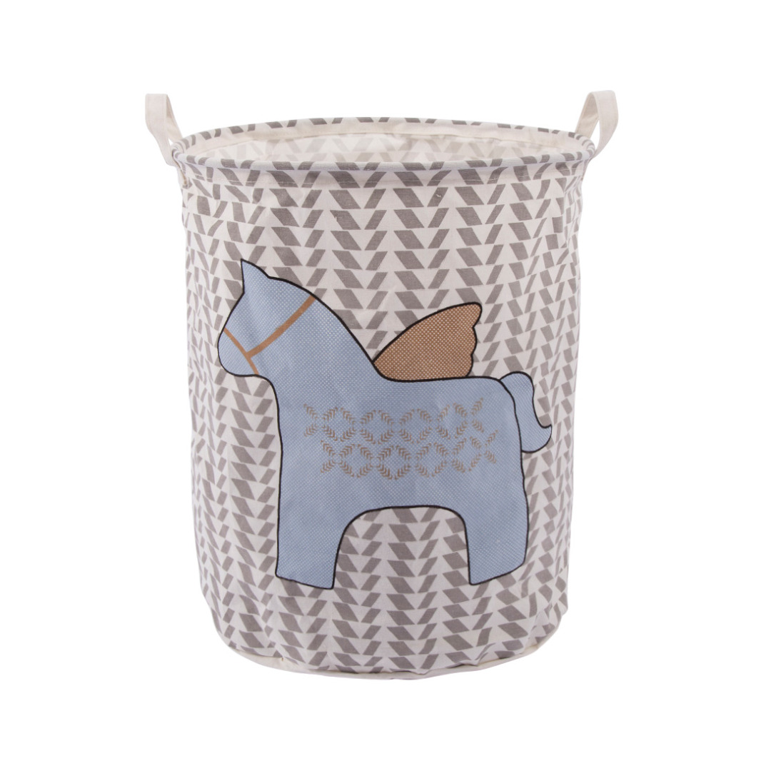 Lovely Pony Line Storage Bag Laundry Hamper with Handles