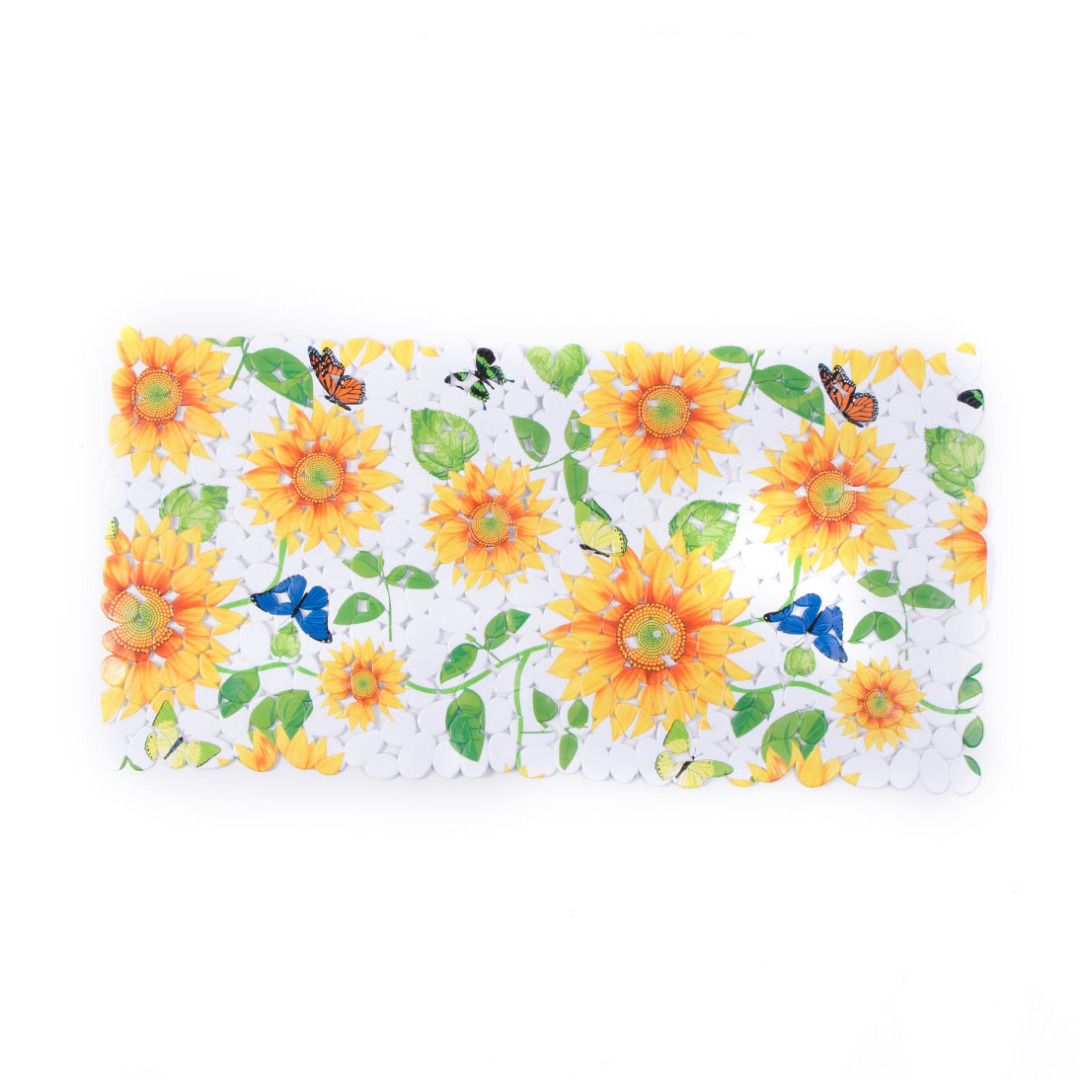 Delightful Summer Touch Sunflower Printed Bathroom Anti-skid Rug