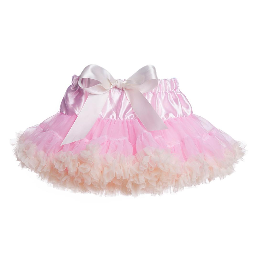 Baby Girl/Girl's Elastic Waist Gauze Tutu Skirt in Pink and Yellow