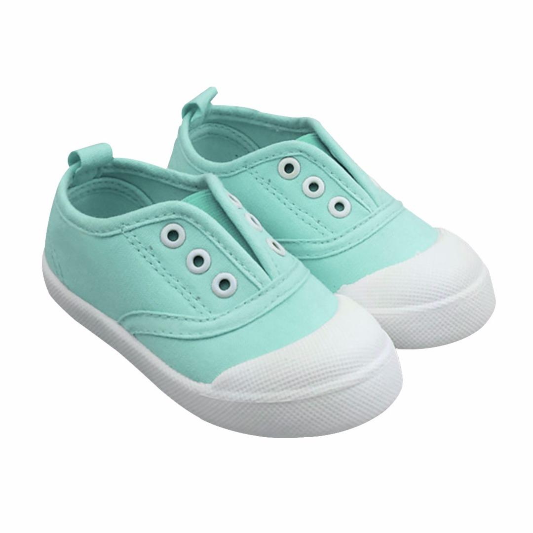 Kid's Trendy Mint Canvas Soft Anti-skid Shoes