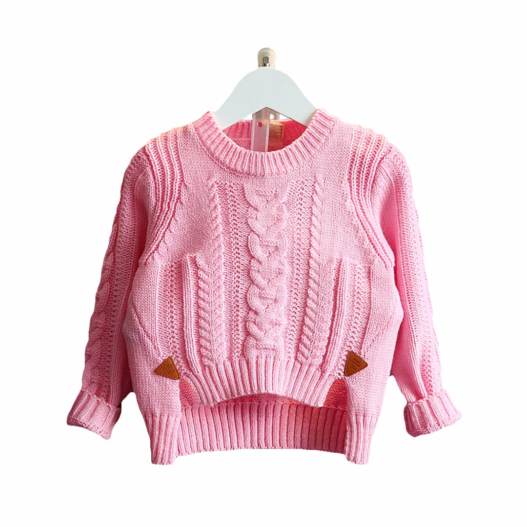 Toddler/Girl's Cable-Knit Asymmetric Sweater
