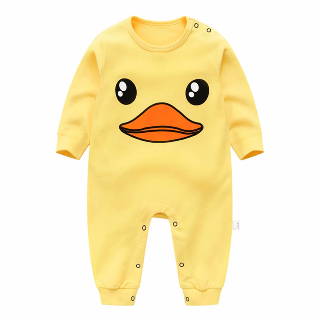 Baby Duck Bright Yellow Baby Jumpsuit