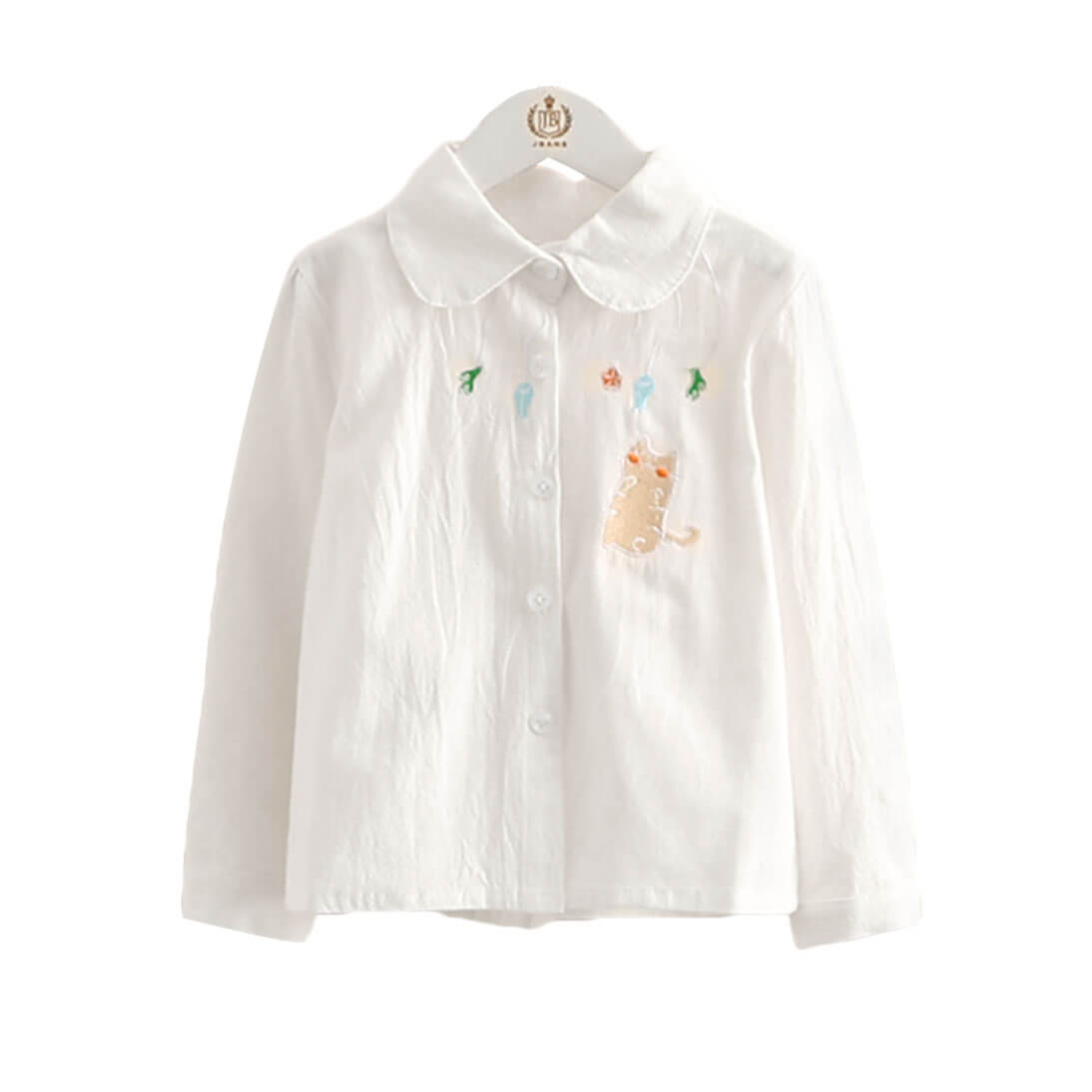 Cat and Her White Shirt for Toddler Girl and Girls
