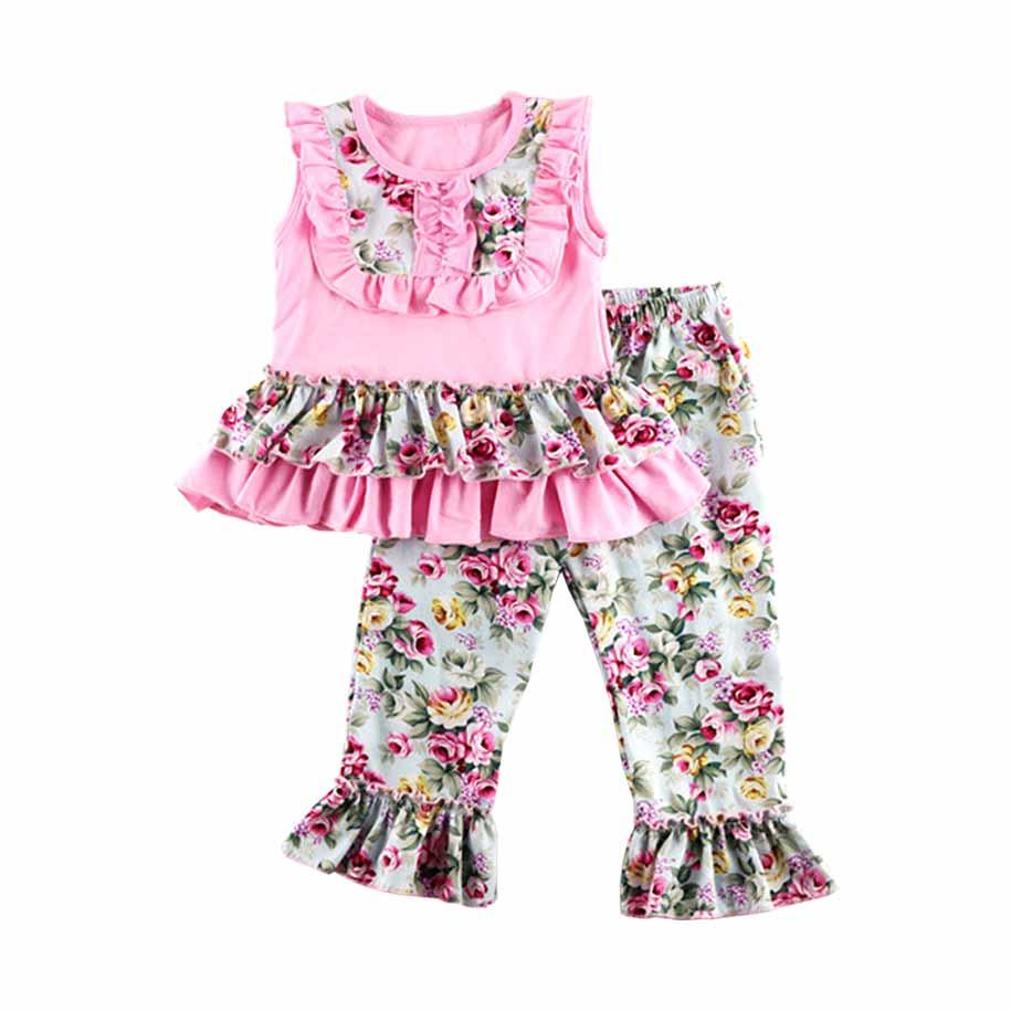Baby Girl/Girl's Blushing Roses Top & Pants/Bottom Set 6376-en-USD-12M