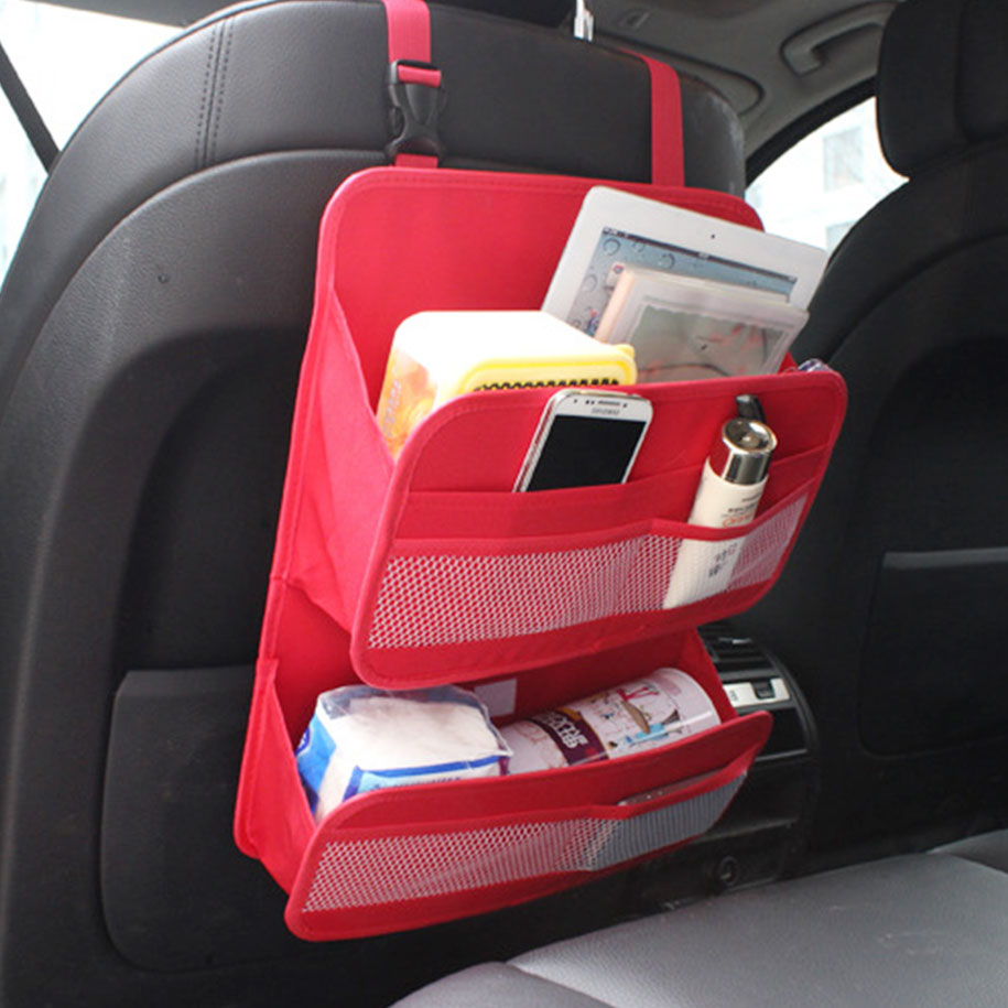 Backseat Organizer in Bright Red