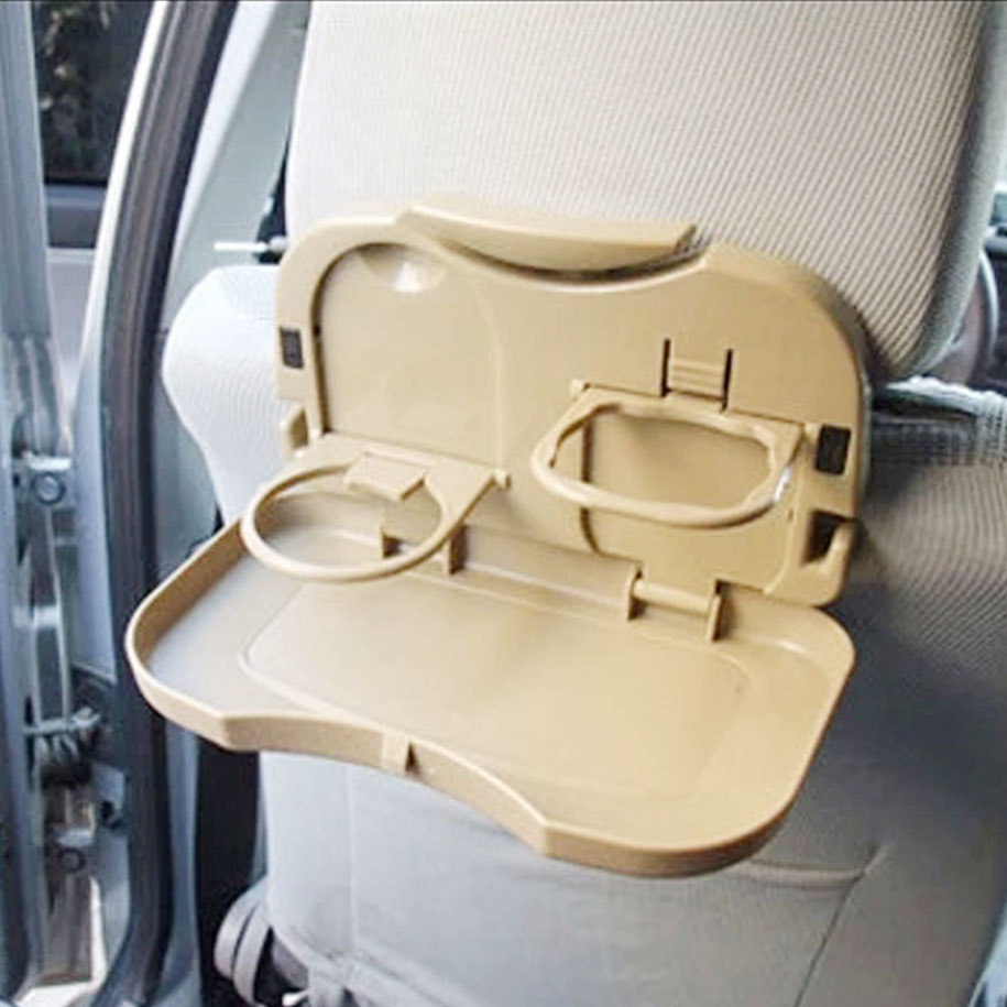 Foldable Car Dining Tray in Tan
