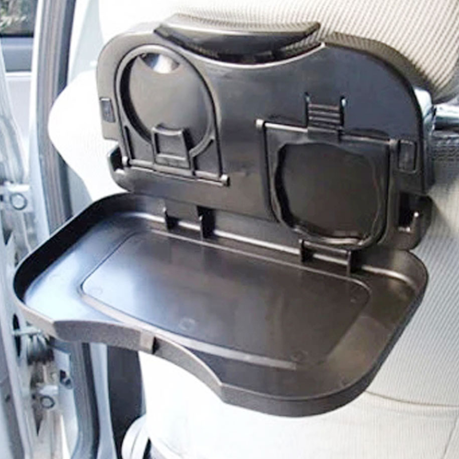 Foldable Car Dining Tray in Black