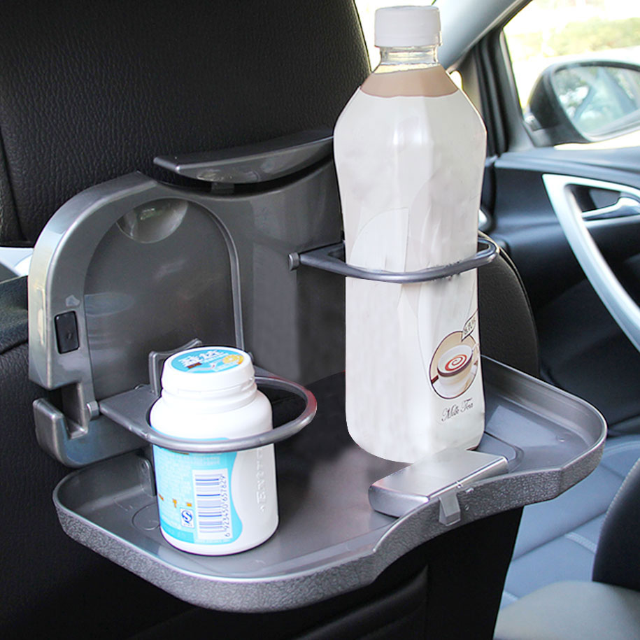 Foldable Car Dining Tray in Gray