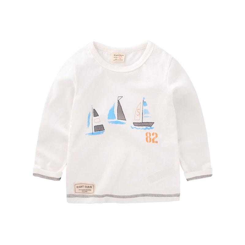 Sail The Ocean Cotton Long-Sleeve Shirt for Baby/Toddler Boys