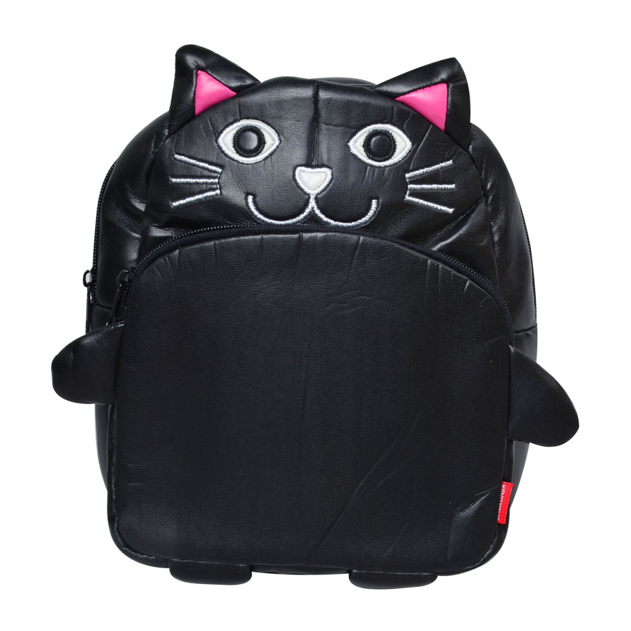Black Kitty Backpack for Kids