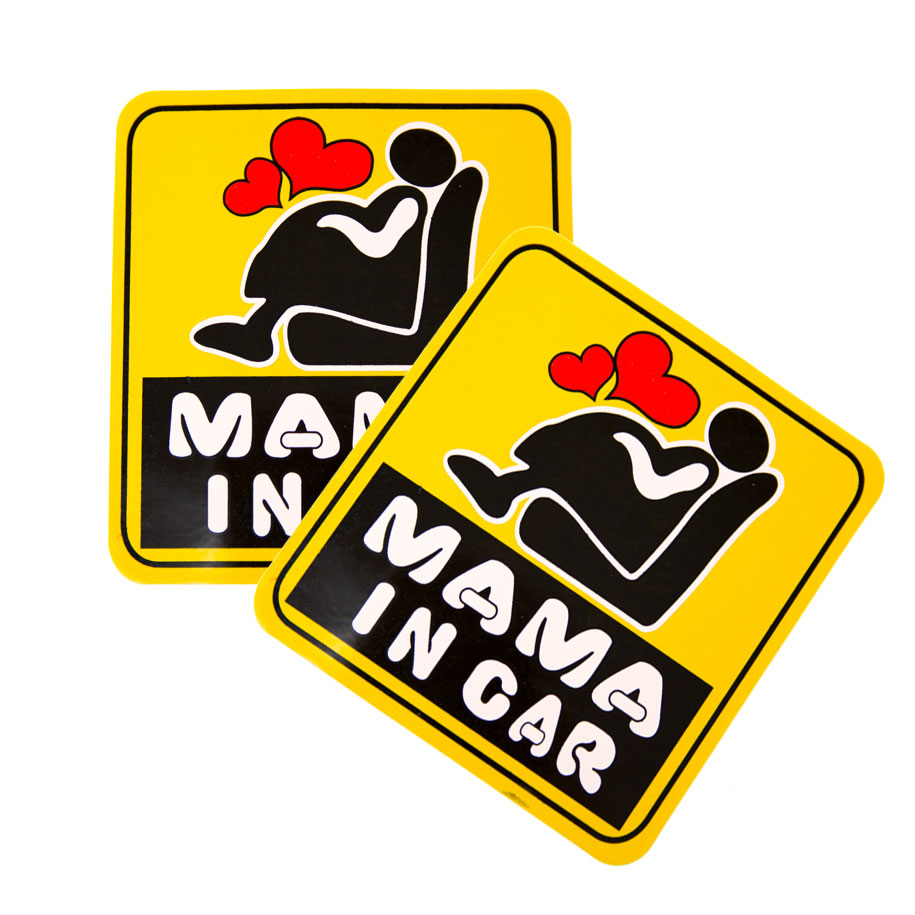 Mama In Car Decals (2 pack)