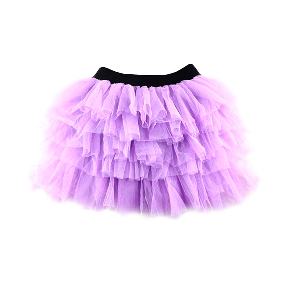 Girl's Cotton Violet Layered Tutu Skirt