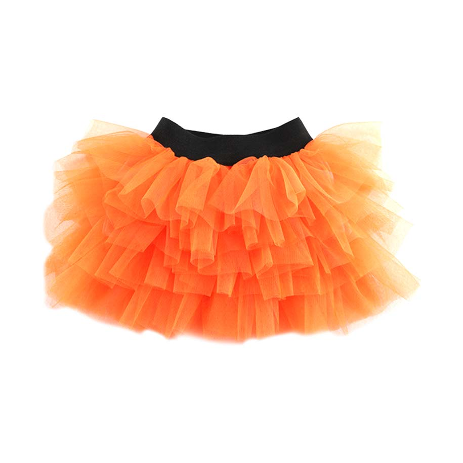 Girl's Orange Layered Tutu Skirt