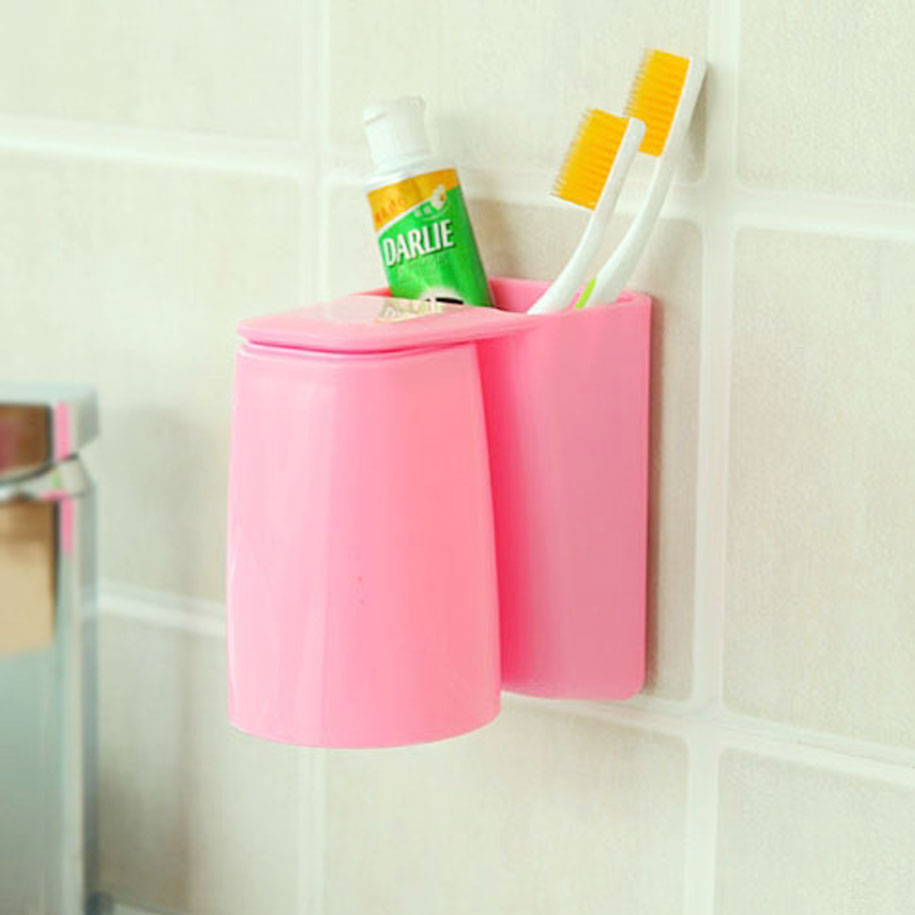 Pink & Practical Toothbrush Holder
