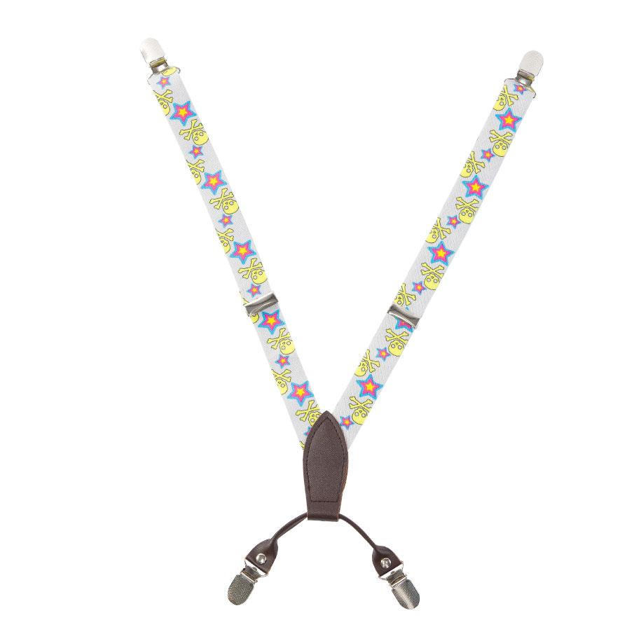 Trendy Skull & Star Pattern Suspenders