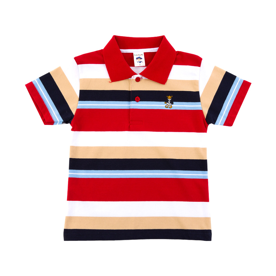 Boy Red Stripe Polo Shirt