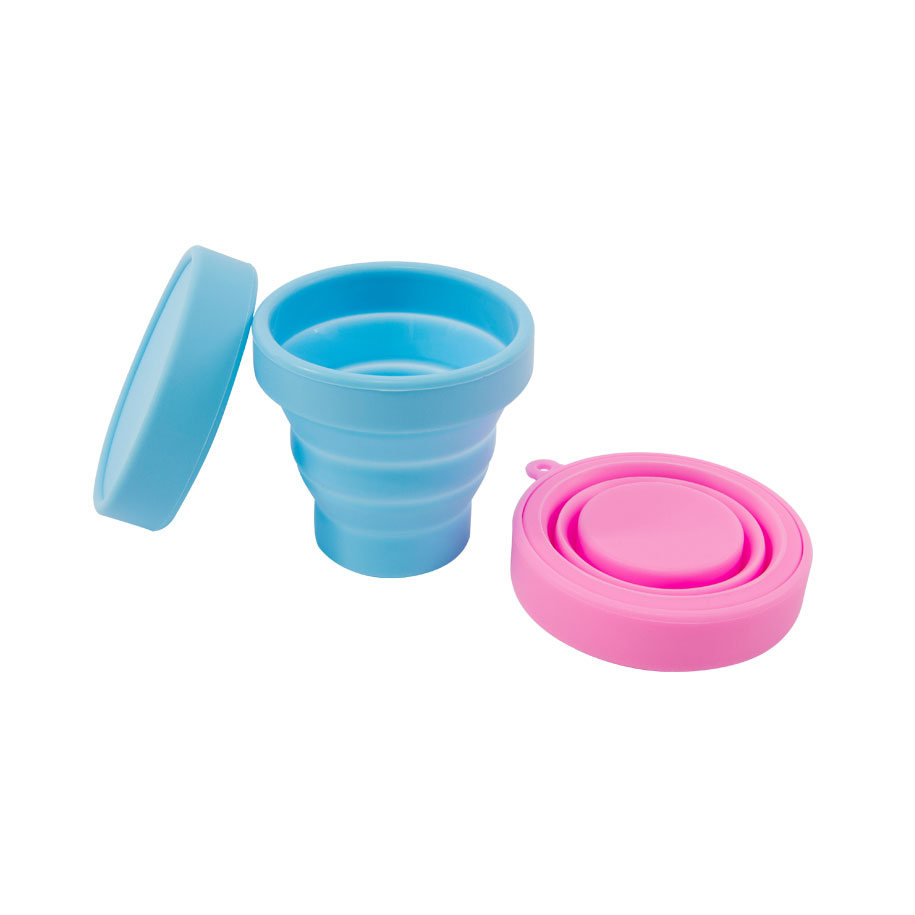 Blue & Pink Collapsible Travel Cups (2 pack)