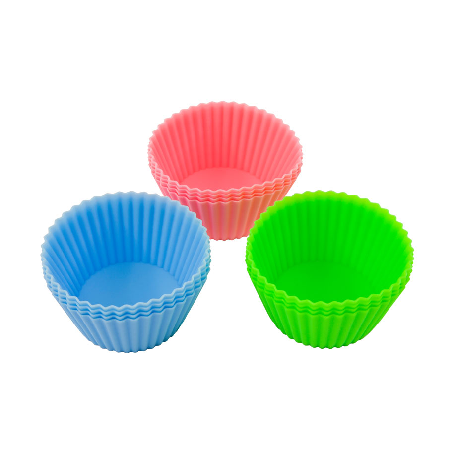 Colorful Collapsible Baking Cups (12pc-set)
