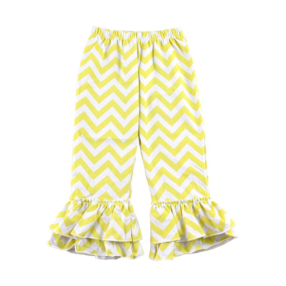 Lemon Drop Ruffled Pants