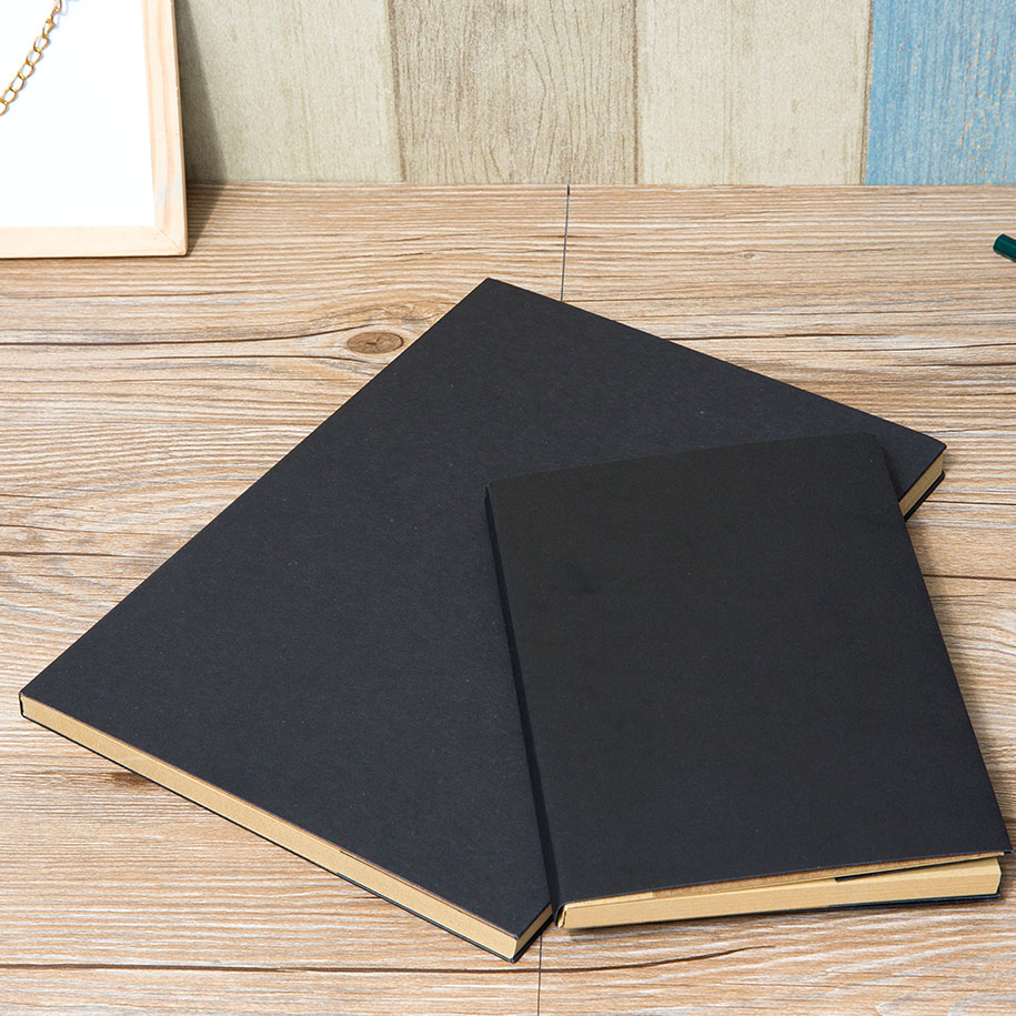 Black Rustic Hardcover Journal (2pc-set)