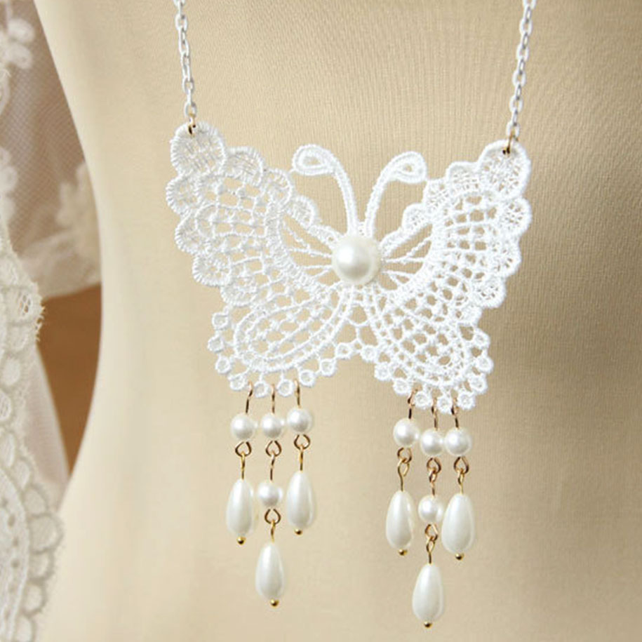 Graceful Butterfly Necklace 12719-en-USD