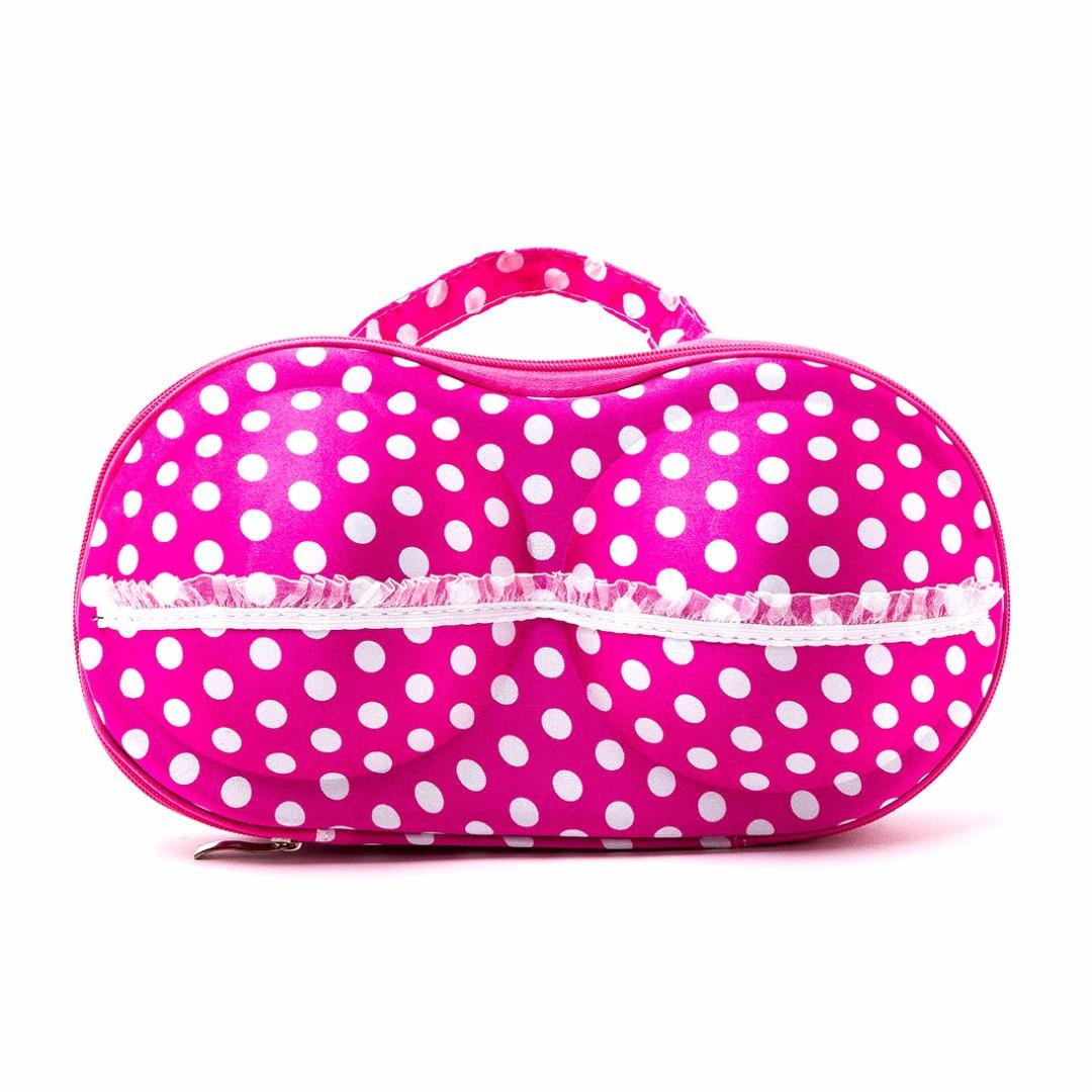 Pink & White Polk Dot Storage Case for Women