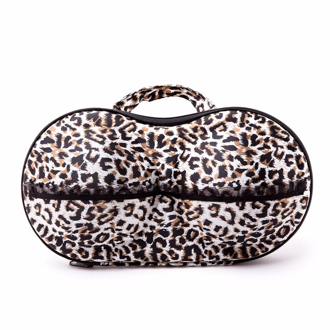 Leopard Print Bra Storage Case for Women
